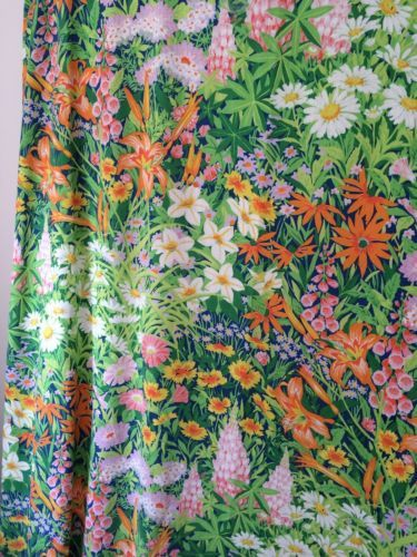 Rare-vtg-Martex-TWIN-FLAT-Sheet-Bold-Tropical-Floral-retro-70s-80s-Multi-Color