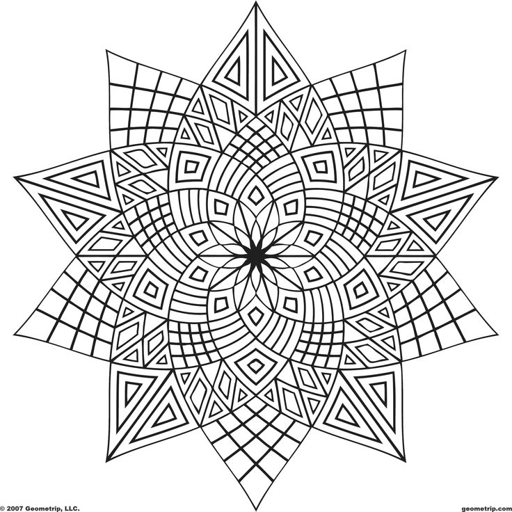 shapes coloring pages for adults - photo#3