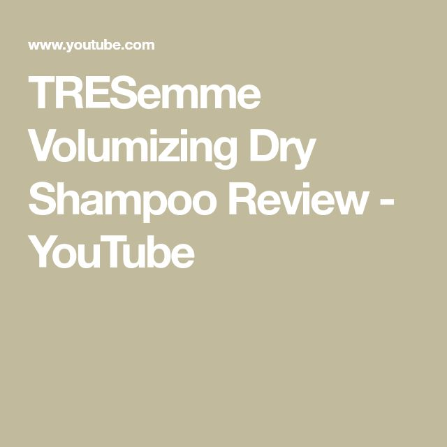TRESemme Volumizing Dry Shampoo Review - YouTube