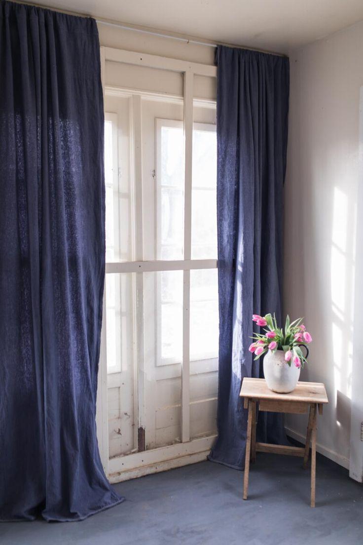 Farmhouse Curtains Navy