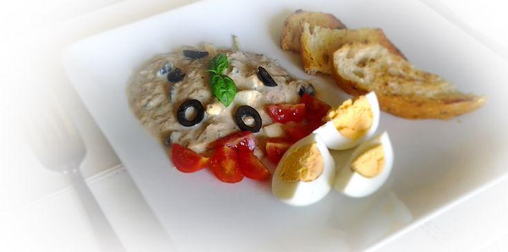 Maionese di tonno con uova e pane tostato #italianfood