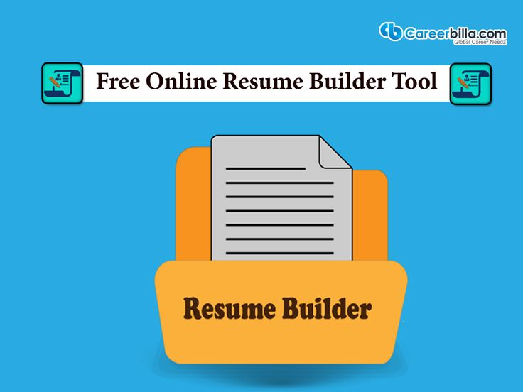 free online resume builder tool the leading job search and career information portal careerbilla provides - Online Resume Maker For Free