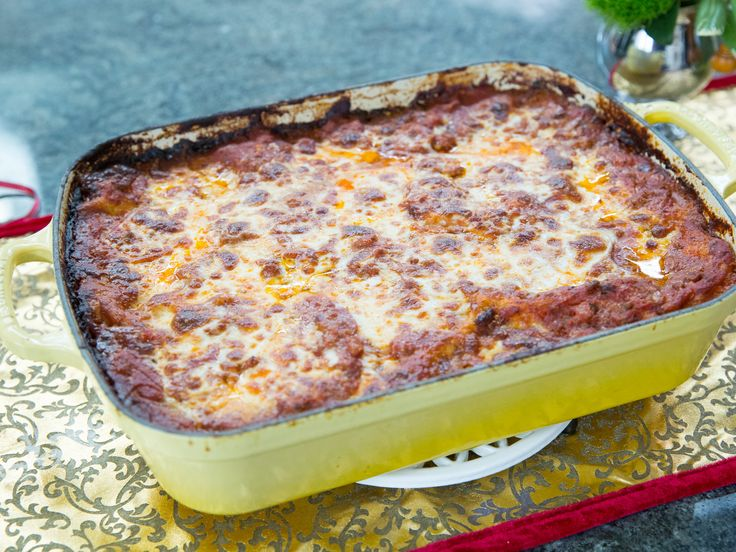 Lasagna alla Besciamella recipe from Valerie Bertinelli; She uses bechemel instead of ricotta. I think I'd use a little of both with this recipe.