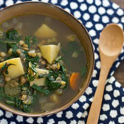 Chard, Lentil & Potato Soup that's made in the slow cooker. | Soup ...