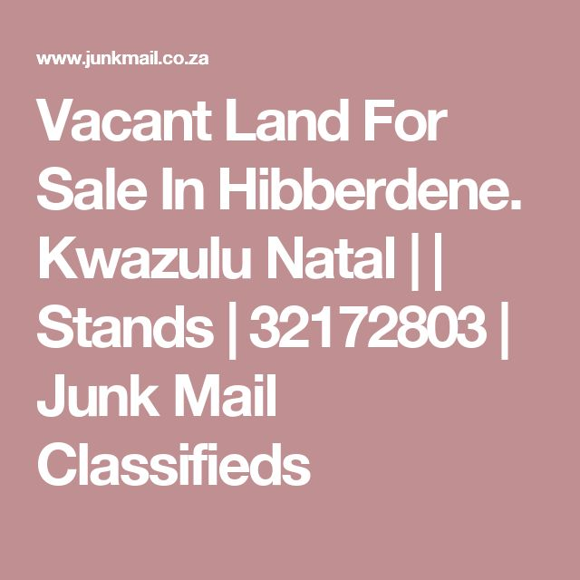 Vacant Land For Sale In Hibberdene. Kwazulu Natal |  | Stands | 32172803 | Junk Mail Classifieds