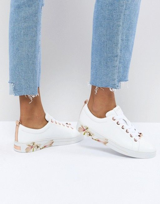 942d8d74 Ted Baker | Ted Baker Kelleip Leather Floral Placement Sneaker