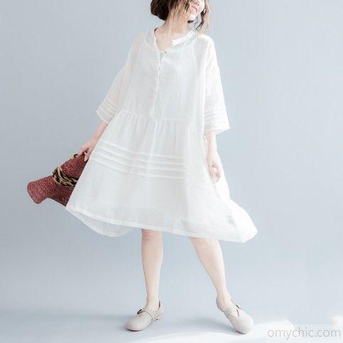 2017 лето льняные платья лёгкой струящейся вскользь виссон сарафан белые льняные платья плюс размер