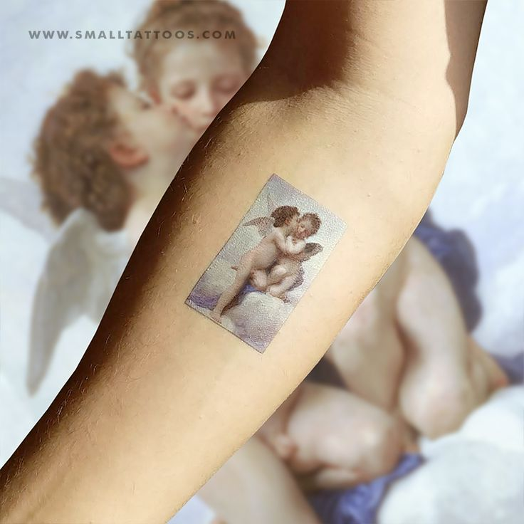 Bouguereau's First Kiss Temporary Tattoo (Set of 2)