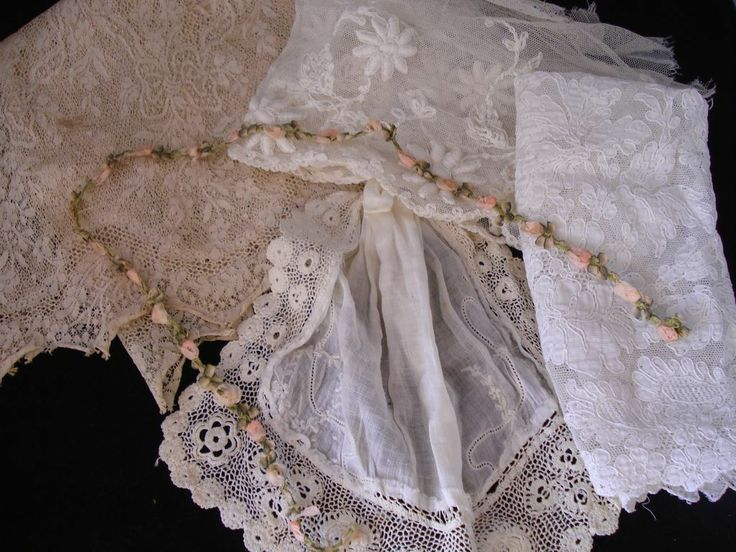 Flower Trim & Antique Lace For Doll Clothes from tstoltzfus on Ruby Lane