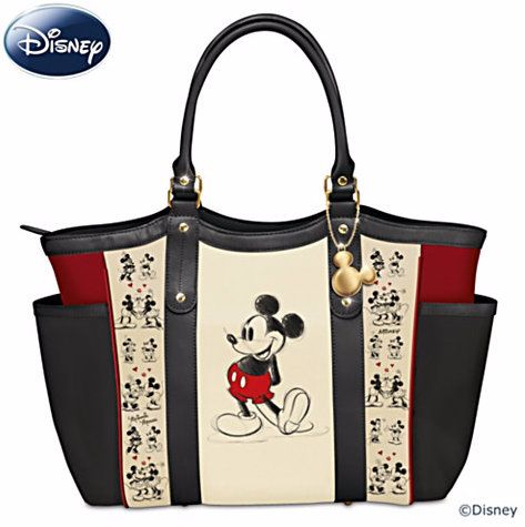 Mickey Mouse Love Story Tote Bag