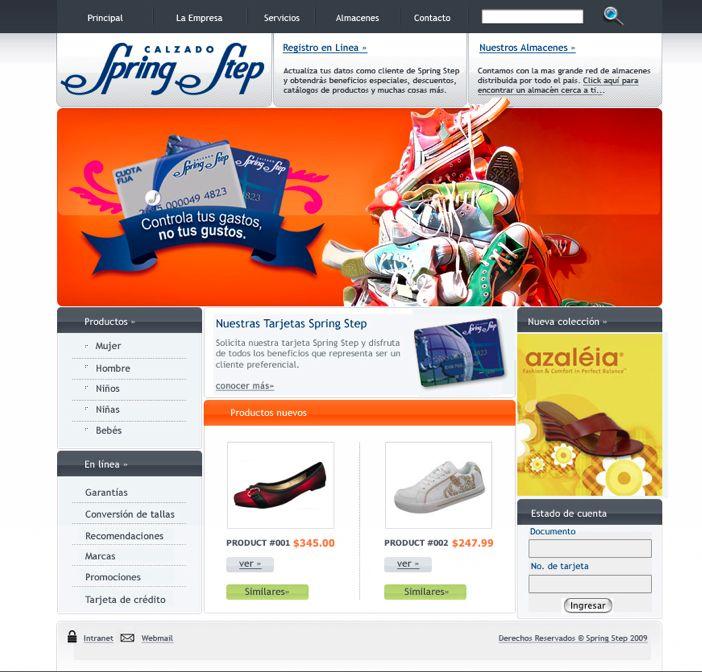Sitio web para SPRING STEP - Año ©2010