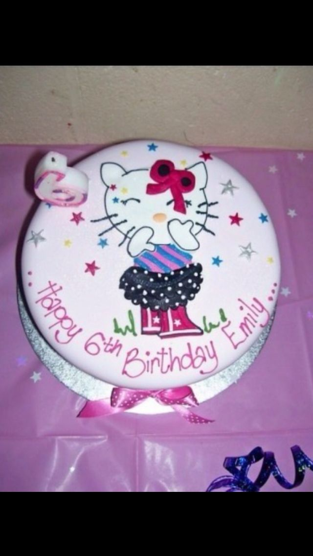 My daughters Hello Kitty / disco party and cake