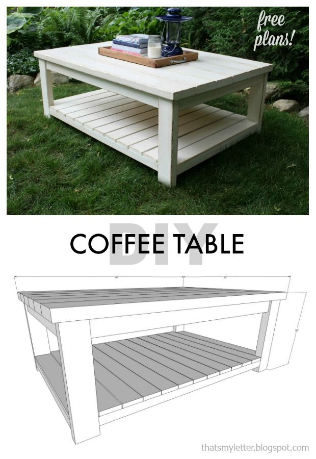 diy coffee table free plans