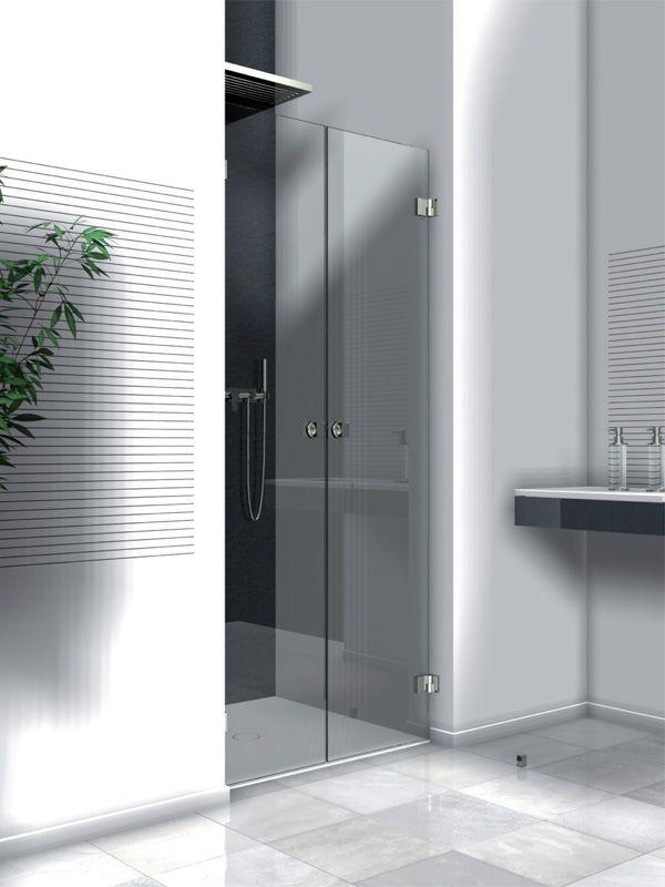 Aquaconcept douche met dubbele douchedeuren op maat gemaakt serie 172 Style Concept