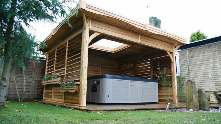 31 best Hot Tub Privacy / Spa Enclosures images on Pinterest