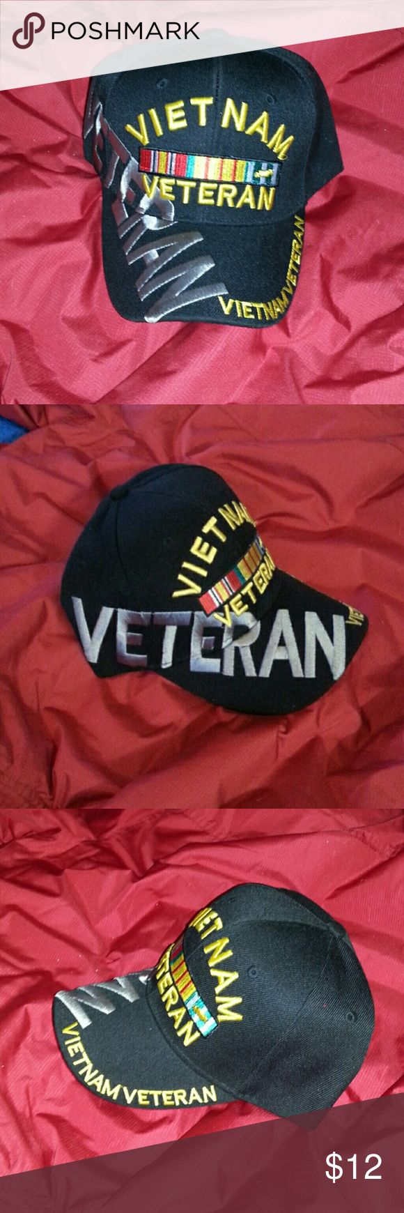 Vietnam Veteran hat Snapback Vietnam Veteran hat, brand new! Great gift for a loved one or a collector! Accessories Hats