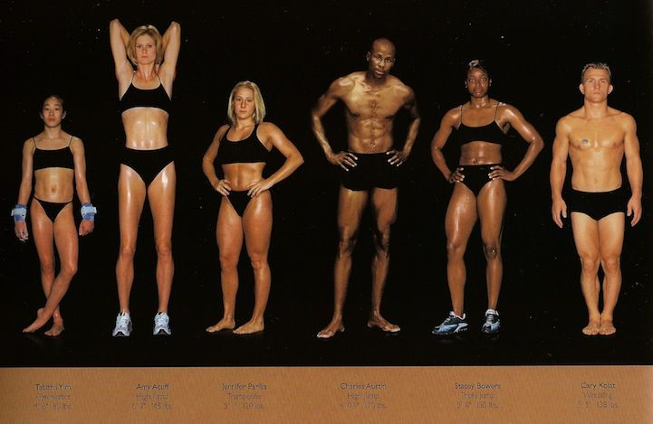 Comparing Vastly Different Body Types of Olympic Athletes - My Modern Metropolis. Strength doesn't come in just one size!