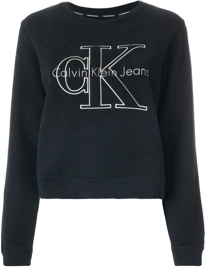 Calvin Klein Jeans Logo Print Sweatshirt Bedruckte Sweatshirts Pullover Design