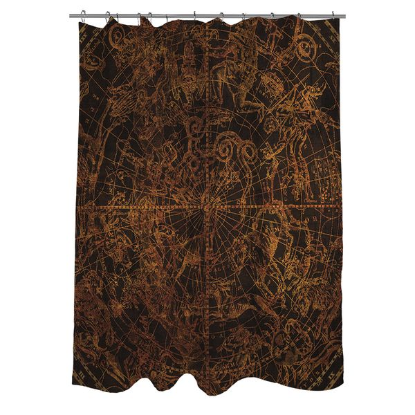 Thumbprintz Northern Celestial Sphere Vintage Shower Curtain - Overstock™ Shopping - Great Deals on Shower Curtains