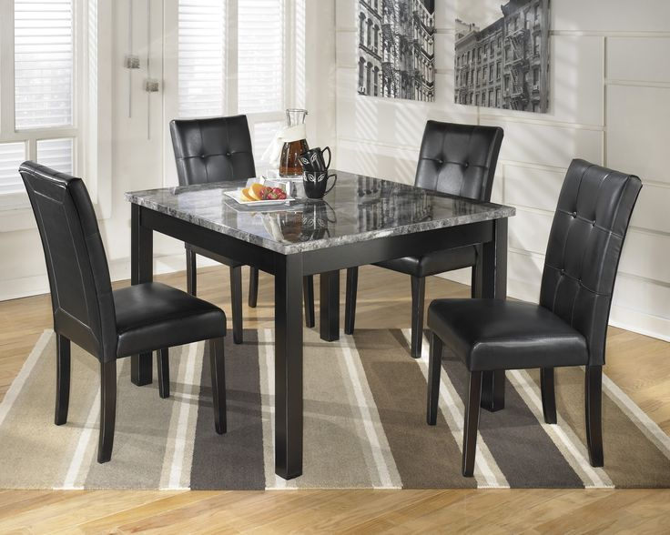 Get Your Maysville Square Dining Room Table 4 Side Chairs At Price Busters Furniture Baltimore MD Store