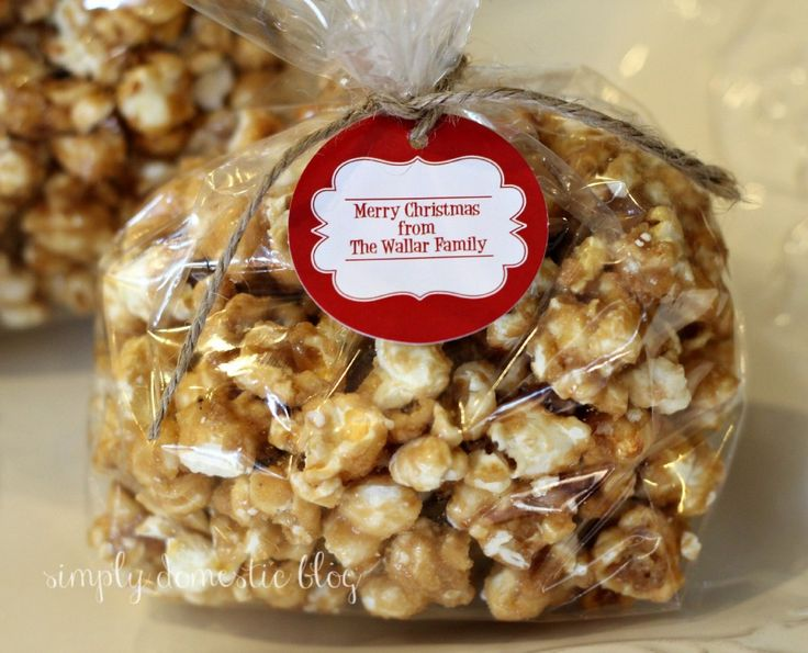 mom's caramel popcorn - Simply Domestic. We made 4 batches of this today and it is delicious!!!