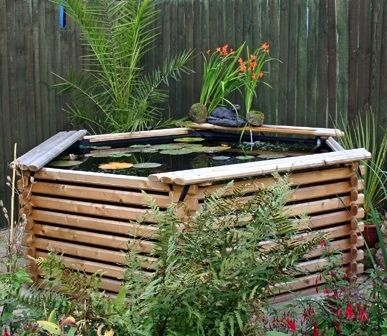 34 best images about intalogs norlogs wooden planters and for Koi pond depth