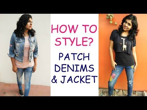 How to Style Patched Jeans - Patchwork Denim Outfit IdeasHow to style patchwork denim or patched jeans & jacket? This video shows you 4 casual outfit ideas that is wearable by all girls. I put together 4 outfits, patched denims,foil print jeans, quirky quote denims & lapel pin denim jacket/ badges jacket.