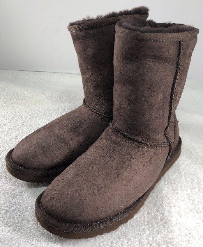 e9ead520419 UGG Classic Short 5825 Chocolate Brown Sheepskin Suede Winter Boots ...
