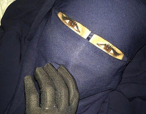 Navy Blue Nose String Niqab