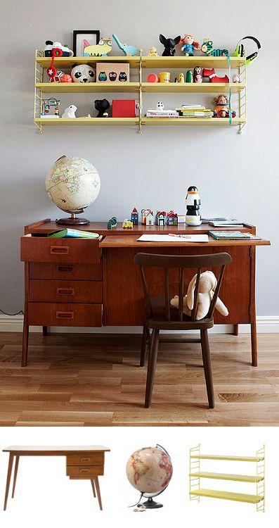Un bureau pour enfant imaginé par des parents et customisé, au final, par des enfants. Enfants 1 - Parents 0.