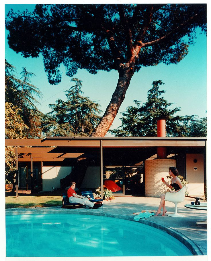 Case Study House No. 20 (Haus Bass), CA    designed by C. Buff, C. Straub, D. Hensman; shot by Julius Shulman, 1958