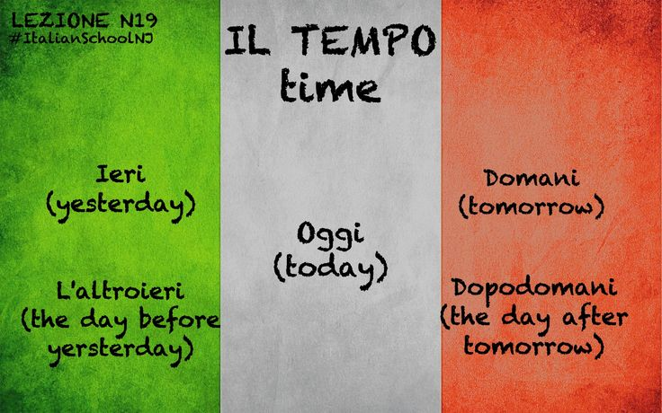 italian lesson - the time