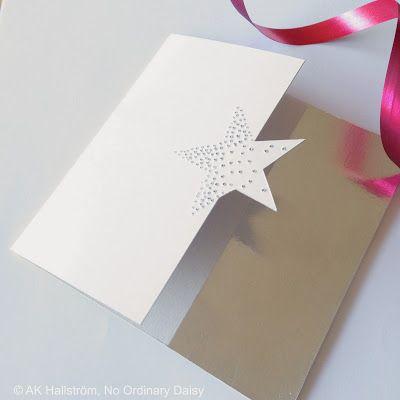 DIY Minimalistic Christmas cards with a star and metal tape. No Ordinary Daisy: Minimalistiska julkort med aluminiumtejp DIY