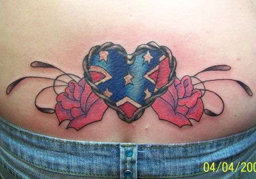 rebel tattoos   25 Magnificent Rebel Flag Tattoos ...