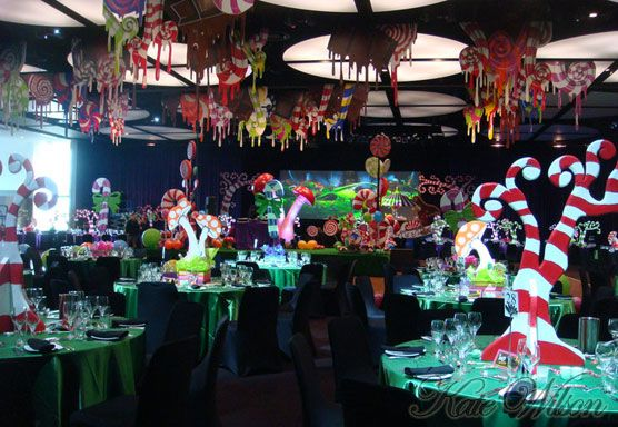 Willy Wonka Themed Venue Decor. Big Foot Events.