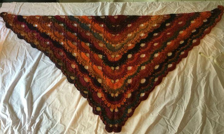 Crocheted Virus Shawl