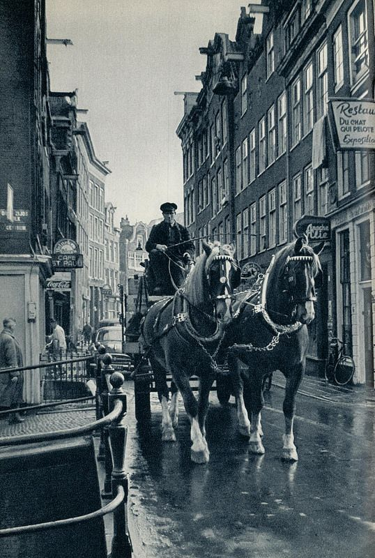 1959. Beer delivery at the Zeedijk in Amsterdam. #amsterdam #1959 #zeedijk