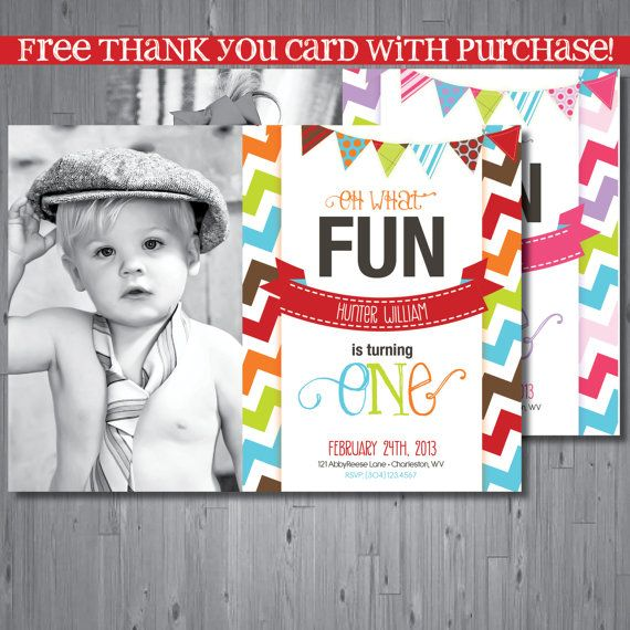 9 best images about First Birthday Thank You Cards – Thank You Cards First Birthday