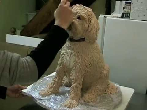 ▶ How-to make a sculpted dog cake - YouTube