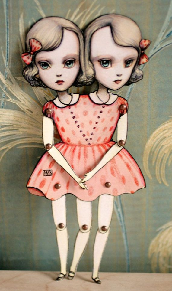 You Are So Special - The Conjoined Twins - articulated paper kit doll by Mab Graves $15 wish they had this in a plush doll form!