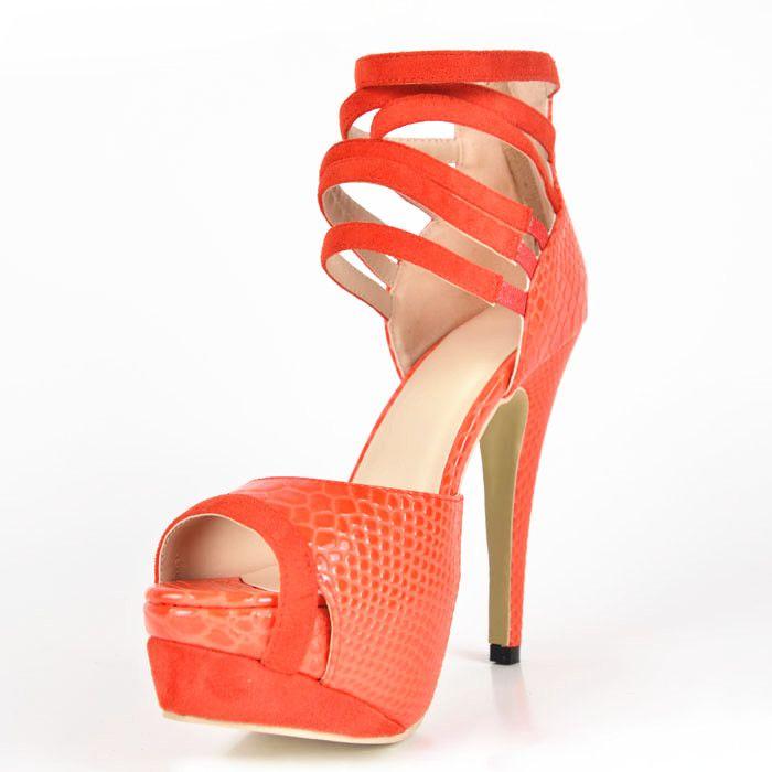 Мода Змея Печати Искусственной Кожи женская Стилет Каблук Платформа Сандалии zapatos mujer мода удобная обувь Женская Обувь