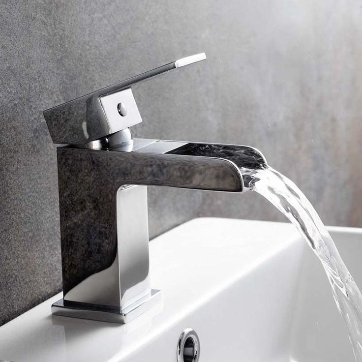 Chrome Waterfall Basin Sink Mixer Tap Modern Luxury Bathroom Lever Faucet:  IBath: Amazon.