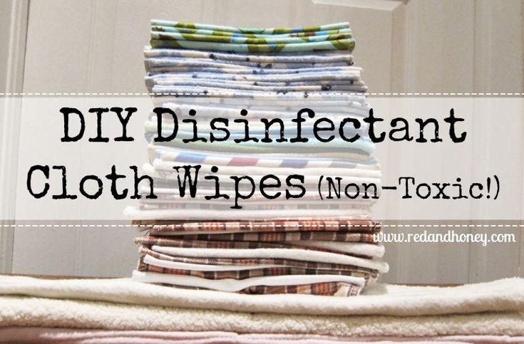 DIY Disinfectant Cloth Wipes