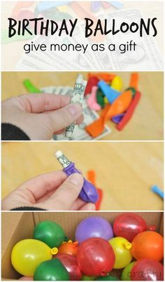 She's crafty: birthday balloons