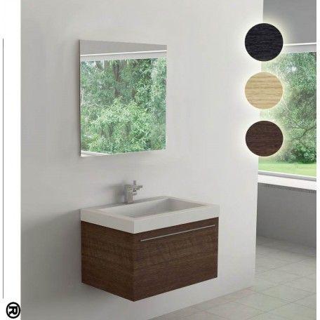 Mobile da bagno sospeso, disponibile in tre diverse colorazioni, in offerta a 260,96€! #arredobagno #mobilebagnosospeso #legno #rospetto #bagno