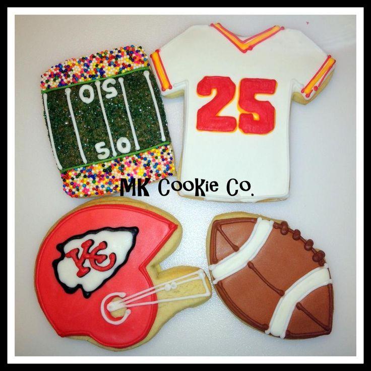 Kc chiefs football themed cookies httpcookieconnection