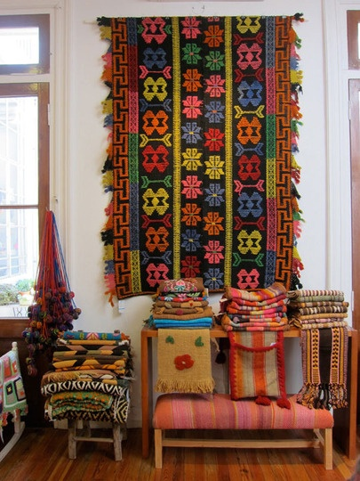 at Elementos Argentinos. I want to live in this store and could pin the photos from this post into half my boards.Ethnic Textiles, Wall Hanging, Area Rugs, Colors, Elemento Argentino, Bohemian Rugs, Pattern Inspiration, Handmade Rugs, Beautiful Textiles