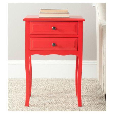 Lori Nightstand in Red
