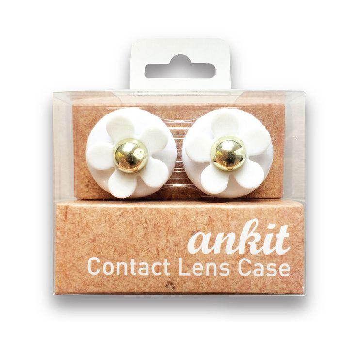 White Daisy Contact Lens Case