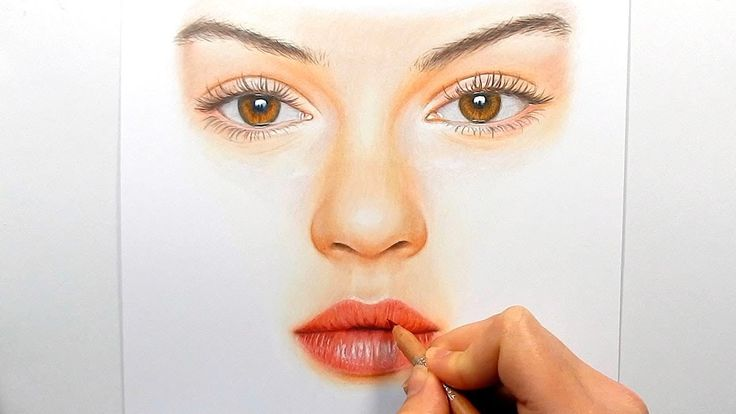 How To Draw A Nose In Colored Pencil